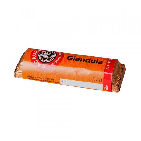 Tablete de Chocolate CacauHolic Gianduia 33% com Pasta de Avelã - 20g