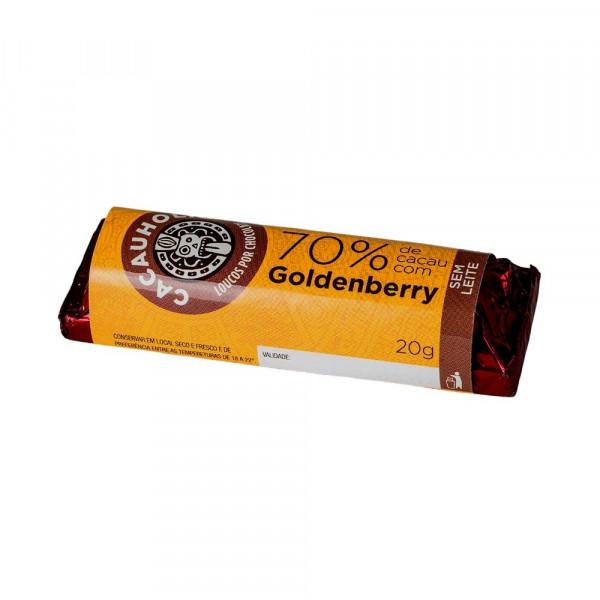 Tablete de Chocolate CacauHolic 70% Sem Leite Goldenberry - 20g