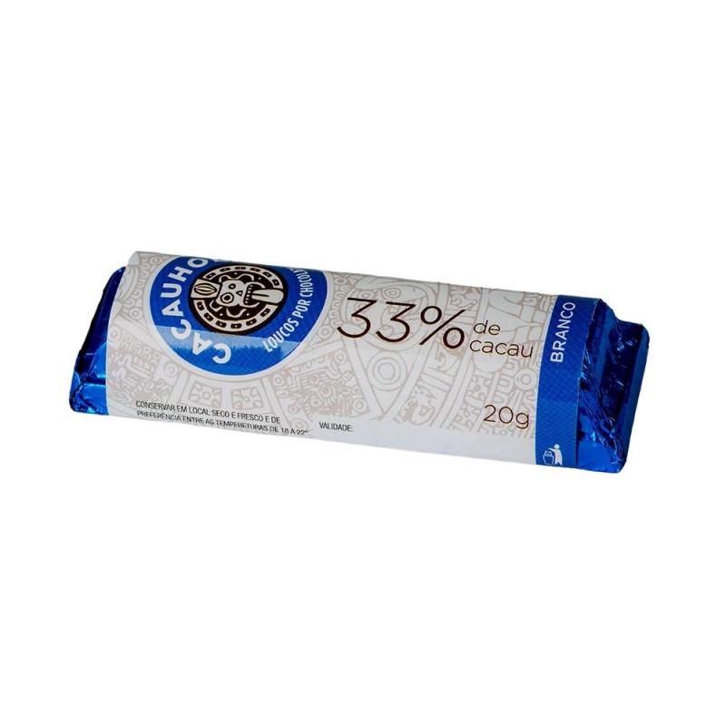 Tablete de Chocolate CacauHolic Branco 33% - 20g
