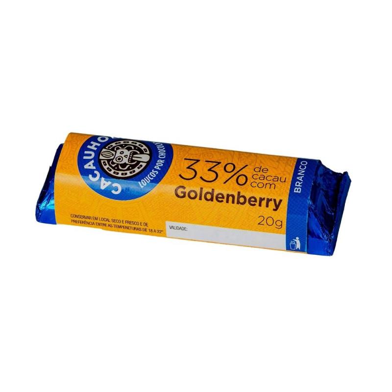 Tablete de Chocolate CacauHolic Branco 33% com Goldenberry - 20g