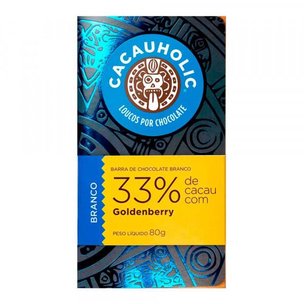 Tablete de Chocolate CacauHolic Branco 33% com Goldenberry - 80g
