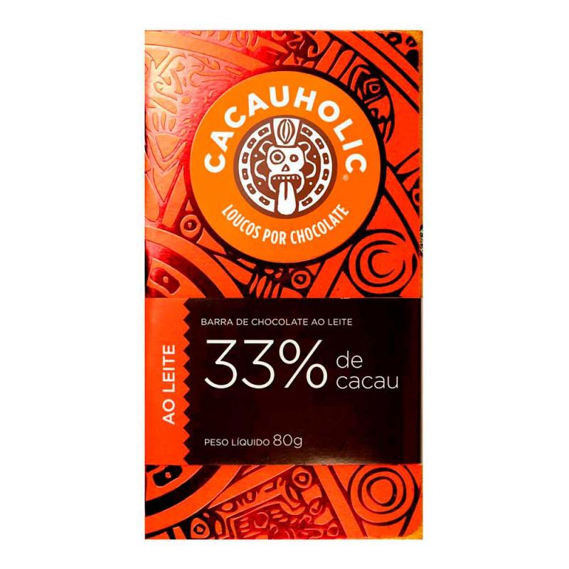 Tablete CacauHolic Ao Leite 33% - 80g