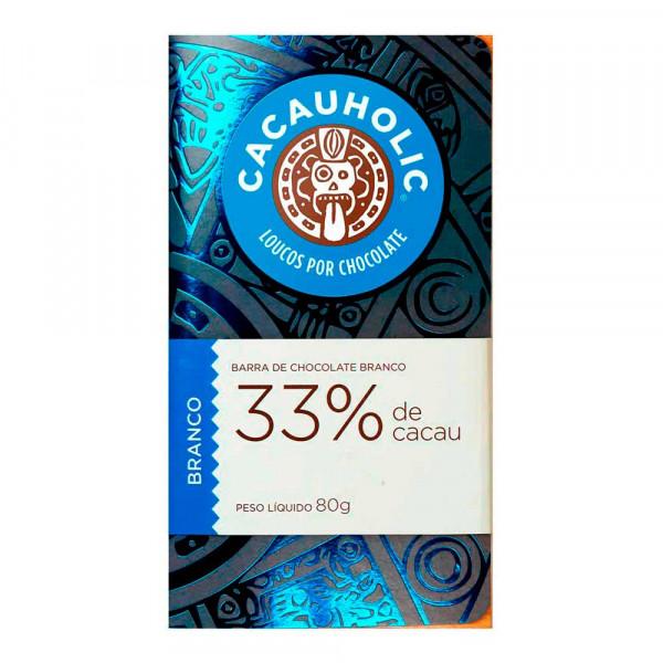 Tablete de Chocolate CacauHolic Branco 33% - 80g