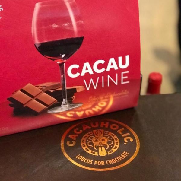 Caixa de Chocolate CacauHolic Wine Harmonizaçao com 4 tabletes 80g